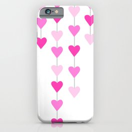 Many Pinks Heart Strings iPhone Case