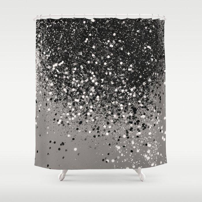 Silver Gray Glitter #1 #shiny #decor #art #society6 Shower Curtain
