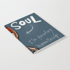 Heart and Soul street art graffiti art brut painting Notebook