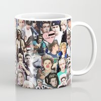niall horan Mugs featuring Niall Horan - Collage by Pepe the frog
