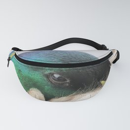 Mallard head side view Fanny Pack