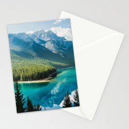 Lake Minnewanka Banff 4k mountains winter Banff National Park Canada Alberta Stationery Cards
