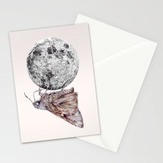 In which a moth is enticed by the light of the moon Stationery Cards