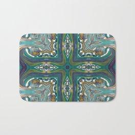 Celtic Cross - Abstract Art by Fluid Nature Bath Mat