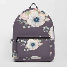 Dog Rose Pattern  Mauve Backpack
