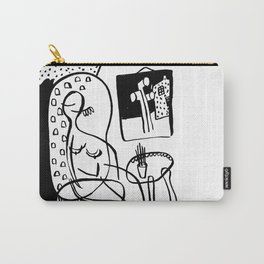 Woman in a chair Carry-All Pouch
