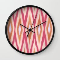 diamonds Wall Clocks featuring DIAMONDS by pattern paint