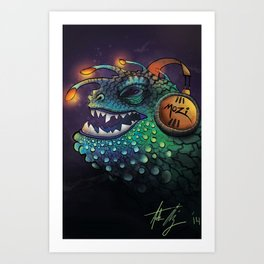 Mozi Monster Art Print