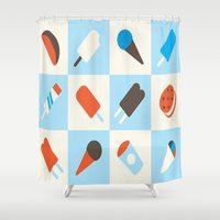 ice cream Shower Curtains featuring ICE CREAM by Acus