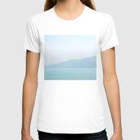 wallpaper T-shirts featuring Wallpaper Sea by Marina Bottega