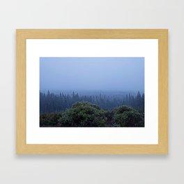 Snowing in Oregon Framed Art Print