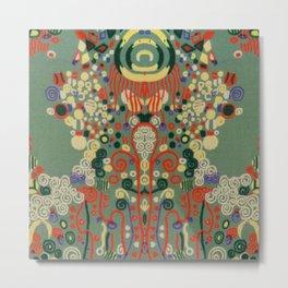 "Gustav Klimt ""Textile design - Model 8"" Metal Print"