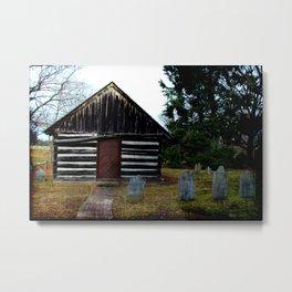 Pittsgrove Boarding School c. 1780's, Daretown, New Jersey, USA. Metal Print