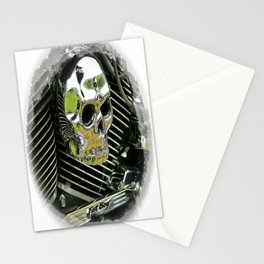 Motorcycle Skull Stationery Cards