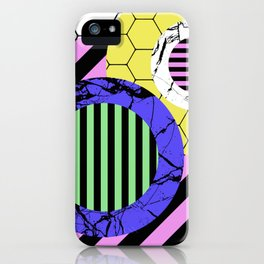 Stripes? Marble? Hex? - Random, eclectic, geometric, abstract design iPhone Case