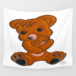 Teddy's Love Wall Tapestry