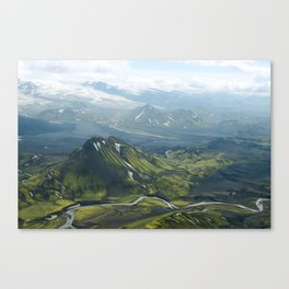Lava and Ice Canvas Print