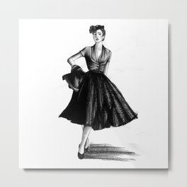 Fashion 1950 Metal Print