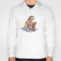 sloth Hoodies featuring Sloth by KteaCrumpet