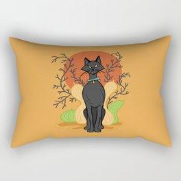 Spooky Kitty Rectangular Pillow