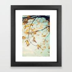 autumn glow Framed Art Print