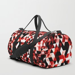 Triangle Geometric Vibrant Red Smoky Galaxy Duffle Bag