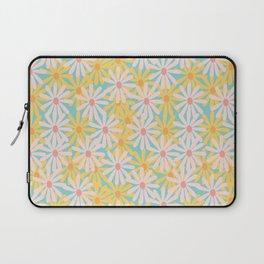 Retro Sunny Floral Pattern Laptop Sleeve