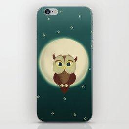 Owl by night iPhone Skin