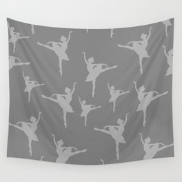 Grey Ballerinas Wall Tapestry