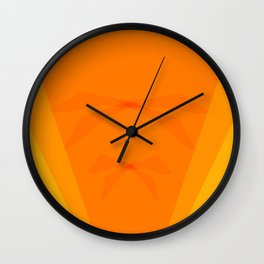 Orange Shapes and Shades 2 Wall Clock