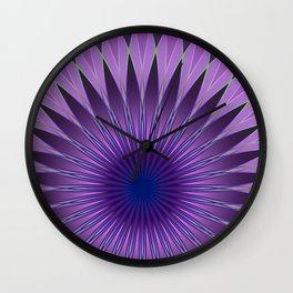 Lavender mandala Wall Clock