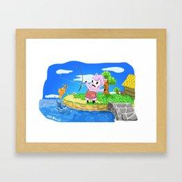 Animal Crossing - Reese Framed Art Print