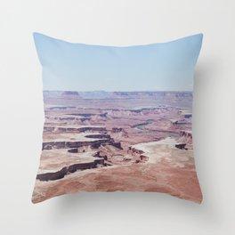 Hazy Desert Canyon Landscape Throw Pillow