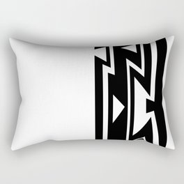 Triangles in Lines Rectangular Pillow