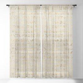 Hieroglyphs Papyrus Sheer Curtain