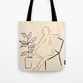 Nude Line Tote Bag