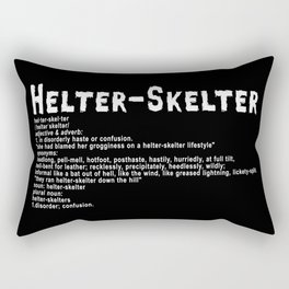 Helter Skelter (white on black) Rectangular Pillow