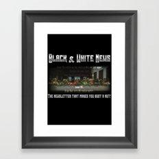 The Black & White Last Supper Framed Art Print