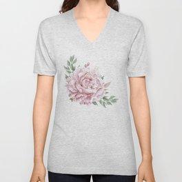 Pink Roses Duet Unisex V-Neck