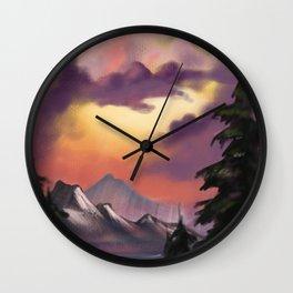 Attempt at Bob Ross Wall Clock