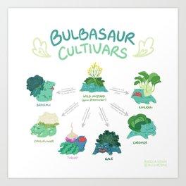 Brassicasaur Cultivars Art Print