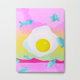 Fish Eggs Metal Print