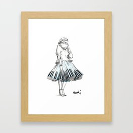 midi skirts Framed Art Print