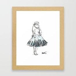midi skirts Framed Art Print