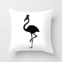 Mister Flamingo Throw Pillow