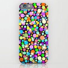 Psychedelic Colors Bright Polka Dots iPhone 6 Slim Case
