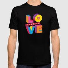 Spread Love MEDIUM Black Mens Fitted Tee