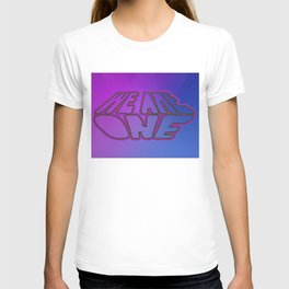 We Are One, violet and blue T-shirt