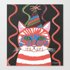 Bad Cattitudes Birthday Canvas Print