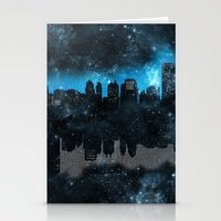 paper towns Stationery Cards featuring Cityscape Galaxy Paper Towns John Green Inspired  by denise